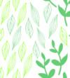 Botanical block print style